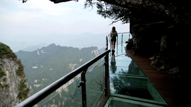 Tianmenshan Glass Walk video