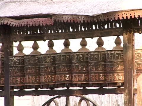Tibetan prayer wheels video