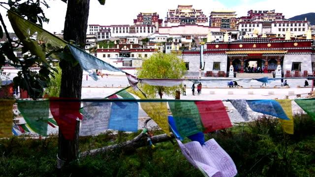 Tibetan Temple Songzanlin Monastery in Shangri-la Town of Yunnan, China video
