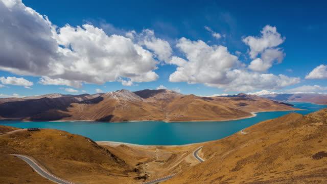 tibet's scenery - paesaggio collinare video stock e b–roll