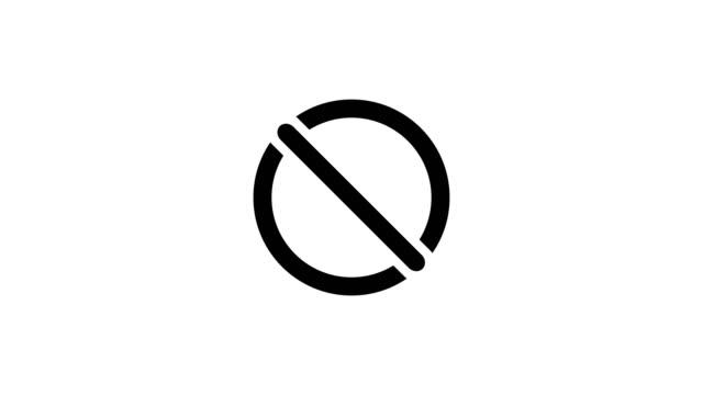 segni di zecca e croce. segno di spunta ok e animazione icona x rossa 4k - to do list video stock e b–roll