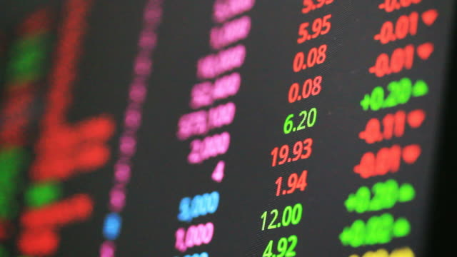 Ticker Board in Exchange Stock Market video