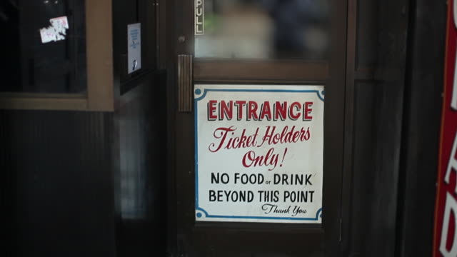 Ticket Holders Only Sign