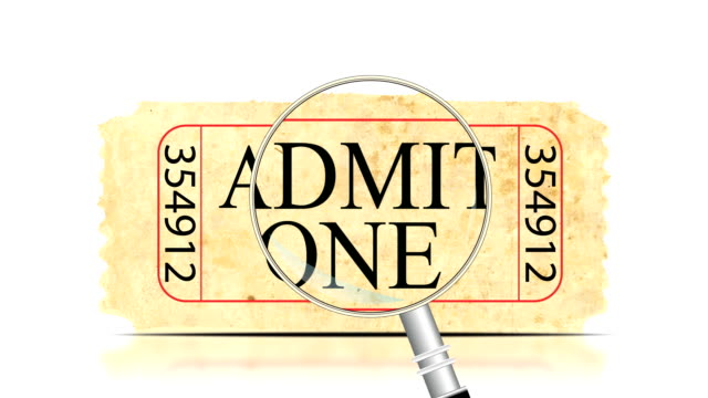 Ticket Search | Admit One video
