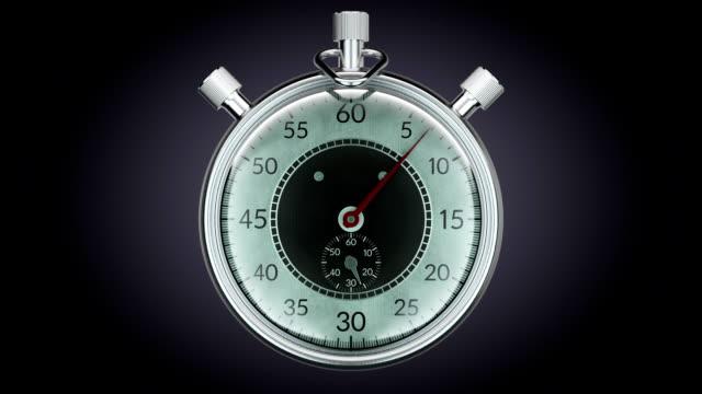 Ticking chronometer (stopwatch) Realistic animation