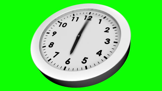 Ticking clock on green background video