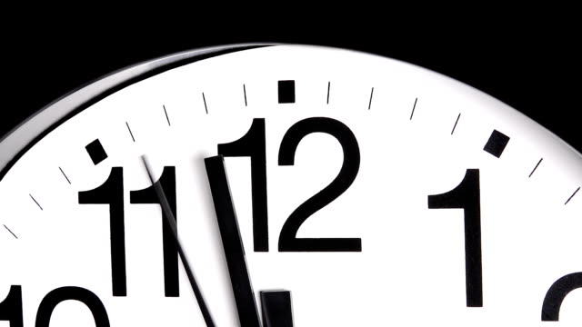 Ticking clock video
