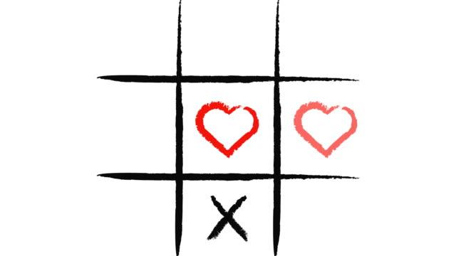 Tic-Tac-Toe. X-O game.Hand drawn tic-tac-toe elements.