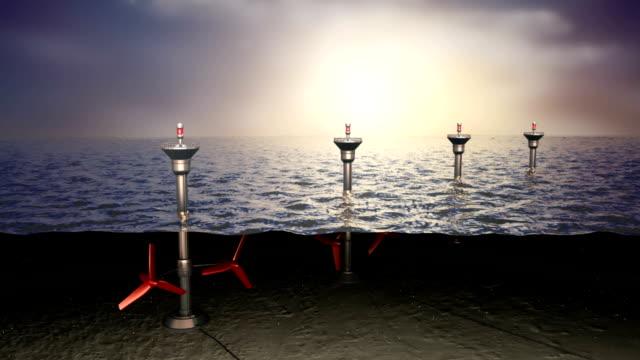 vídeos y material grabado en eventos de stock de concepto de la energía mareomotriz al mar - marea