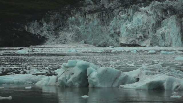 Tide Water Glacier in the Evening HD video