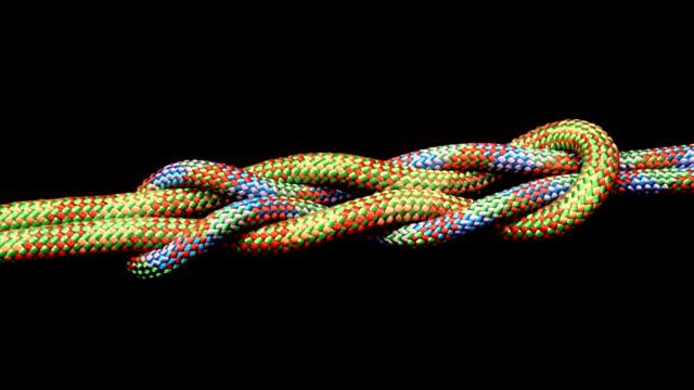 stockvideo's en b-roll-footage met tied knot, - touw