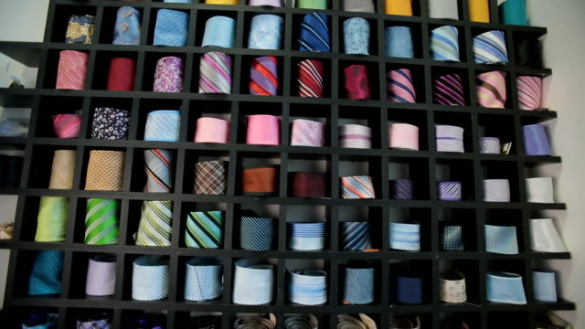 Ties at clothing store video