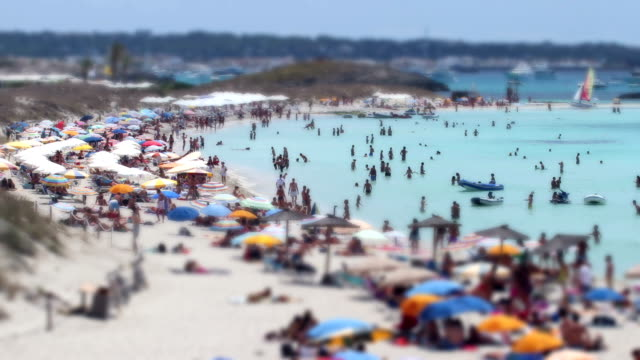 Tilt and shift time lapse at the beach video