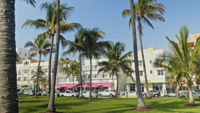 Tilt film video at Ocean Drive, Miami Beach, Florida, USA