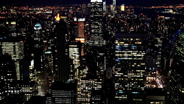 HD Tilt: New York City Skyline aerial view video