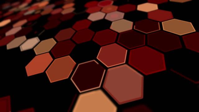 stockvideo's en b-roll-footage met het perspectief rode zeshoekachtergrondpatroon van de kanteling - foreground background perspective graphic