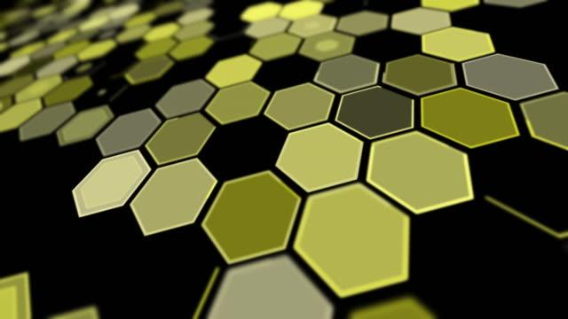 stockvideo's en b-roll-footage met het perspectief geel zeshoekachtergrondpatroon van de kanteling - foreground background perspective graphic