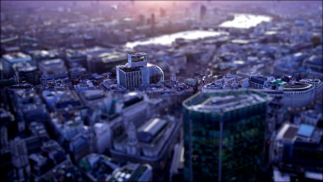 Tilt Shift London - Day to Night video