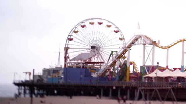 Tilt Shift Santa Monica Pier Rides video