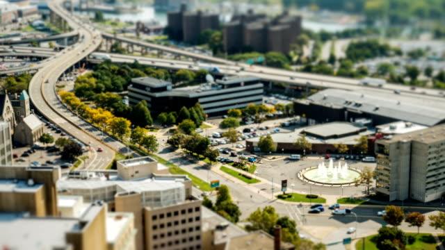 Tilt Shift time Lapse Buffalo New York tiny City video
