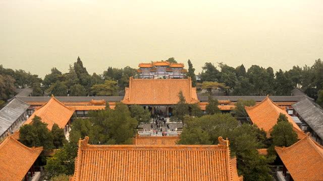 kippen: aussichtspunkt von langlebigkeit hill in peking sommerpalast im winter - pagode stock-videos und b-roll-filmmaterial
