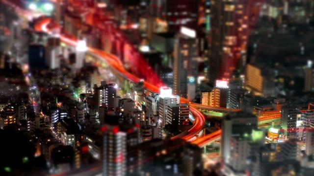 틸트-근무교대 공중 시간경과 슛 도쿄 - 틸트 스톡 비디오 및 b-롤 화면