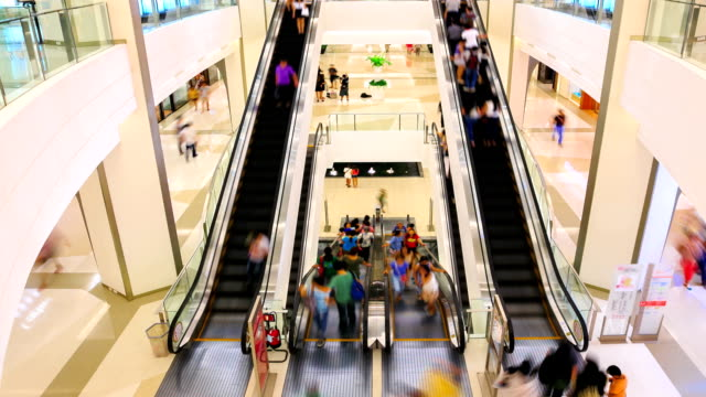 HD Timalapse: Shopping mall pedestrian video