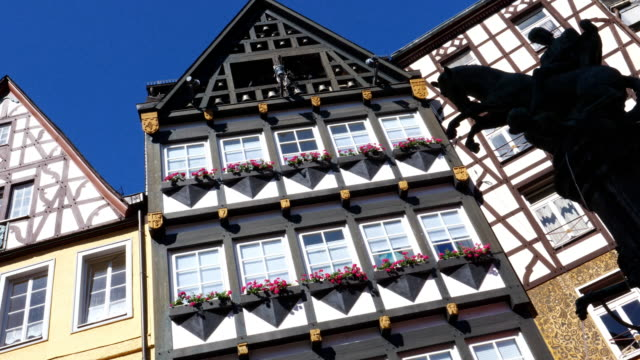 Timbered Houses in Germany. panning shot