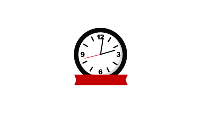 time clock hour with ribbon
