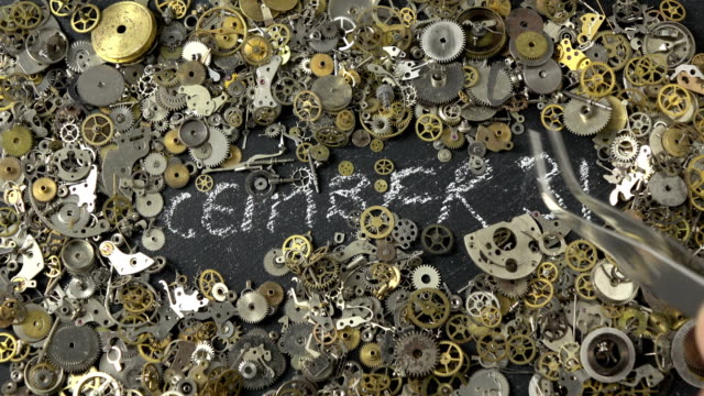 Time Concept Via Clockwork Parts video