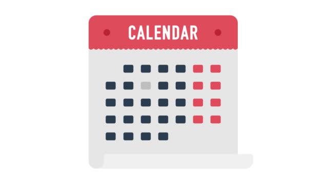 zeit für holiday glitch effekt icon animation mit alpha - kalender icon stock-videos und b-roll-filmmaterial