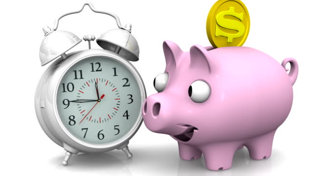 Time is money. Financial concept video