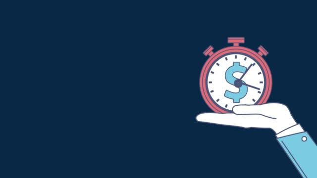 時は金なりと hd アニメーションです。 - 時計点の映像素材/bロール