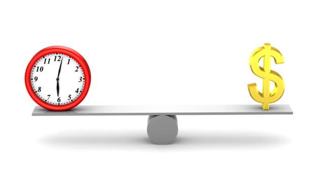 il tempo è denaro - balance graphics video stock e b–roll