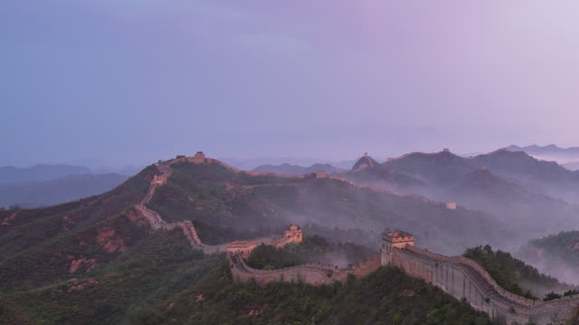 Time Lapes-Sunrise of Jinshanling great wall video