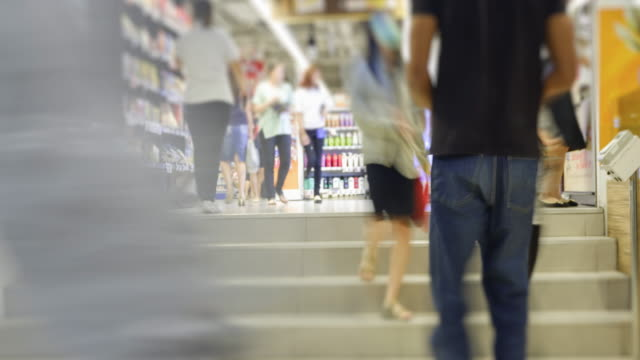 4K Time Lapse 4096x2160 : The crowd at shopping mall and walk around mall with ProRes 422HQ. video