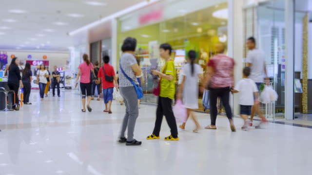 4K Time Lapse 4096x2160 : The crowd at shopping mall and walk around mall with ProRes 422HQ.zoom in styles. video