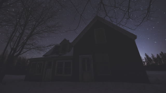 Farm House Night Stock Videos and Royalty-Free Footage - iStock