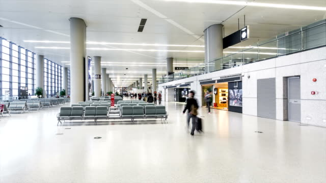 Time Lapse - Airport Departure Lounge (Zoom In) video