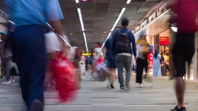 4K Time lapse : Airport Passenger Terminal 4K Time lapse : Airport Passenger Terminal passport stock videos & royalty-free footage
