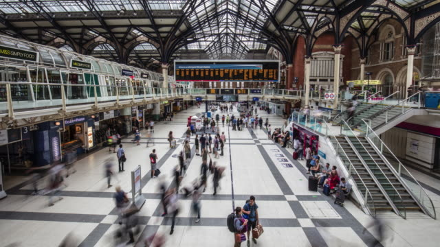 Time lapse at Liverpool Street Station at Rush Hour video