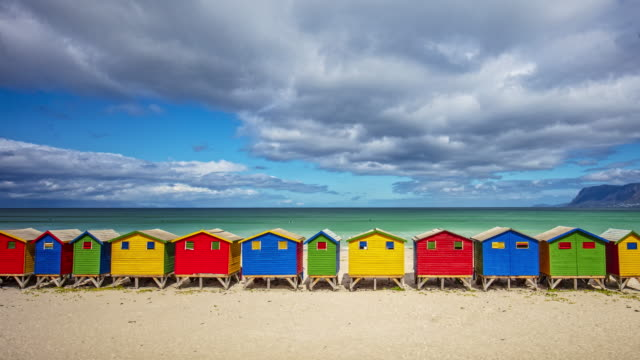 Time lapse at Muizenberg Beach, Cape Town, South Africa Time lapse at Muizenberg Beach, Cape Town, South Africa. cape town stock videos & royalty-free footage