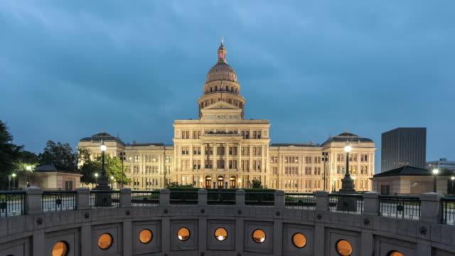 UHD 4K Time Lapse Austin State Capitol at Sunrise, Texas video