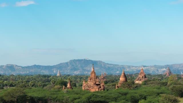 4k time lapse :   bagan temples ,old pagoda in bagan myanmar - myanmar video stock e b–roll
