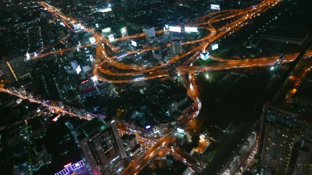 Time lapse bangkok city at night video
