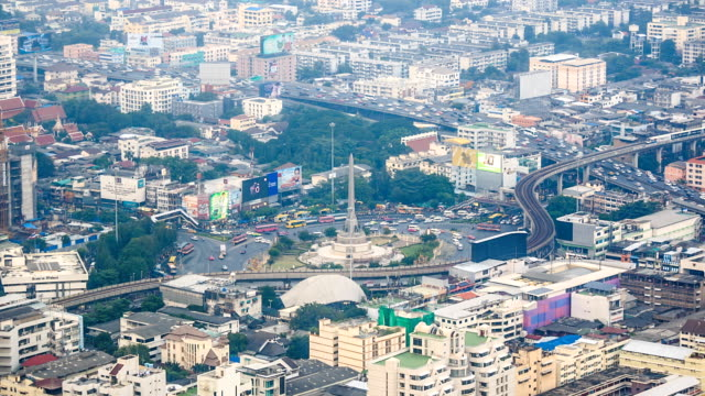 HD Time lapse : Bangkok city day view with traffic video