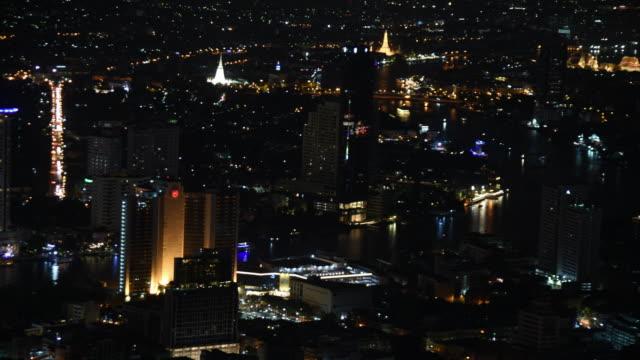 tid förflutit bangkok natt med populärt ställe, thailand - fornhistorisk tid bildbanksvideor och videomaterial från bakom kulisserna
