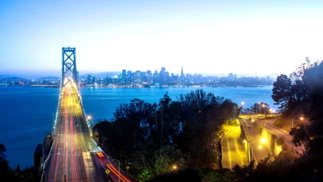 Time Lapse - Bay Bridge at San Francisco at Sunset video