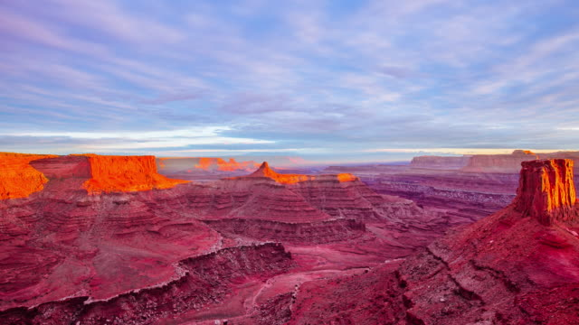 Time Lapse -  Beautifil Dusk at  Dead Horsepoint State Park - Utah - USA