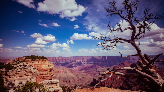 Time Lapse- Beautiful clouds moving over Grand Canyon in Arizona